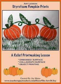 Art Lesson: Pumpkin Prints