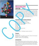 Art Lesson Recycled Still Life (elementary art)
