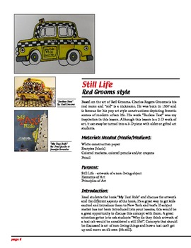 Art Lesson - Red Grooms Taxi (Still Life)
