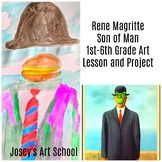 Art Lesson Rene Magritte Son of Man Grade 1st to 6th Grade Art History Drawing