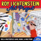 Art Lesson: Roy Lichtenstein Art History Game and Art Sub Plans for Teachers