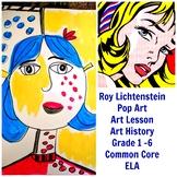 Art Lesson Roy Lichtenstein Grades 1 to 5 Art History Draw