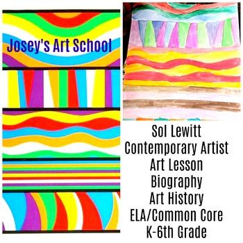Art Lesson Sol Dewitt Colors Lines Grade K 6th Grade Art History Drawing ELA