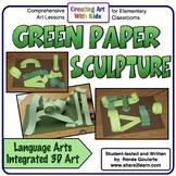 Art Lesson St. Patrick's Day Green Paper Sculpture