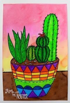 Art Lesson: Succulent Garden Still Lifes
