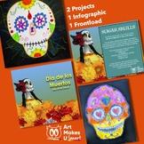 STEAM Art Lesson Sugar Skull Day of the Dead Bundle