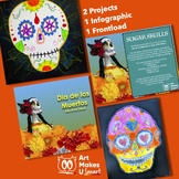 STEAM Art Sugar Skull Day of the Dead Powerpoint Lesson Bundle