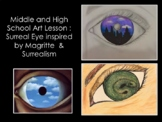 Surrealism for Middle and High School Art Lesson-Surreal Eye