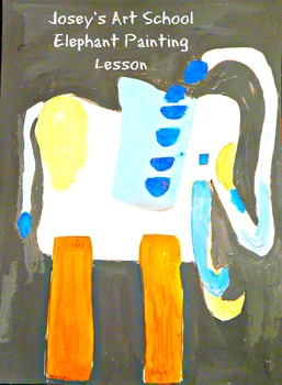 Art Lesson Teach Collage Art to K - 6th Elephant Collage Art History and Lesson