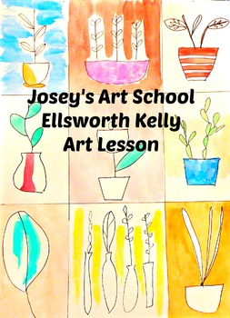 Art Lesson Teach Ellsworth Kelly to your Students K-6 Foliage Art History Lesson