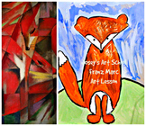Art Lesson Teach Franz Marc to K - 4th Fox Art History and Project
