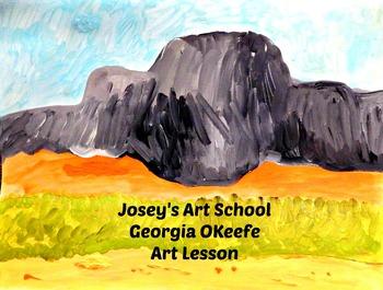 Art Lesson Teach Georgia O'Keefe to your Students K-6 Proj