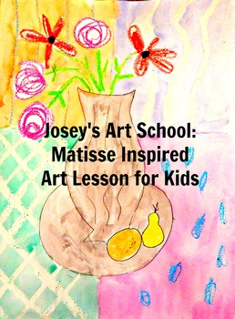 Art Lesson Teach Henri Matisse to Grades K-6 Vase of Amaryllis History Lesson