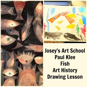 Art Lesson Teach Paul Klee to Grades K-6 Fish Aquarium Art History and Project