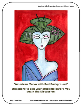 Contemporary Art Lesson Paul Zepeda K-6 American Maiko Geisha Lesson and Project