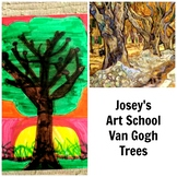 Art Lesson Teach Van Gogh to Grades K-6 Trees Art History and Project