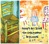 Art Lesson Vincent VanGogh Grades 3-6 Chair Art History Le