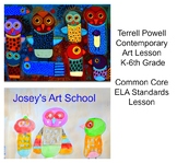 Art Lesson Terrell Powell Owls Grade K to 6th Grade Folk Art Biography Drawing