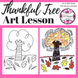 Art Lesson: Thankful Tree (Thanksgiving) | Sub Plans, Earl