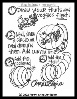 Art Lesson: (Thanksgiving) Cornucopia | Sub Plans, Early Finishers