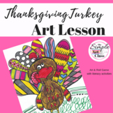 Art Lesson: (Thanksgiving) Turkey | Sub Plans, Early Finishers