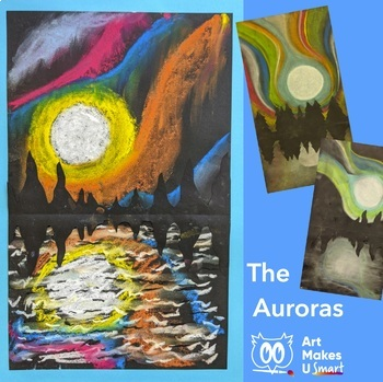 Art Lesson The Auroras with Chalk Pastel