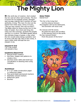 Art Lesson: The Mighty Lion Watercolor