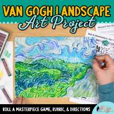 Art Lesson: Van Gogh Green Wheat Fields Art History Game and Art Sub Plans