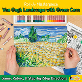 Art Lesson: Van Gogh Landscape with Green Corn Roll A Dice Game & Art Sub Plans