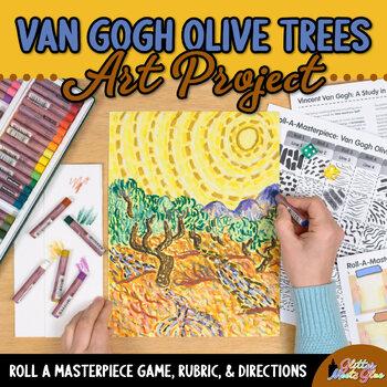 Art Lesson: Van Gogh Olive Trees Art History Game {Art Sub Plans for Teachers}