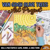 Art Lesson: Van Gogh Olive Trees Art History Game | Art Sub Plans for Teachers