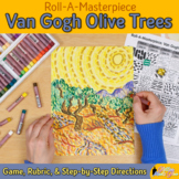 Art Lesson: Van Gogh Olive Trees Roll A Dice Game and Art Sub Plans for Teachers