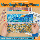 Roll and Draw: Van Gogh Rising Moon Roll A Dice Game and Art Sub Plans