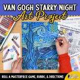 Art Lesson: Van Gogh Starry Night Art History Game | Art Sub Plans for Teachers