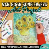 Art Lesson: Van Gogh Sunflowers Art History Game | Art Sub Plans for Teachers