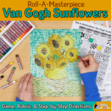 Art Lesson: Van Gogh Sunflowers Art History Game and Art Sub Plans for Teachers