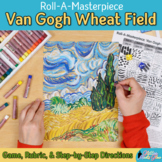 Art Lesson: Van Gogh Wheatfield Art History Game and Art Sub Plans for Teachers