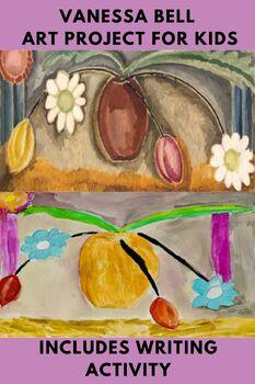 Art Lesson Vanessa Bell Flowers and Vase Grade K 6th Grade Art History Drawing