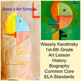 Art Lesson Wassily Kandinsky Upward 1st to 6th Grade Art History Drawing ELA