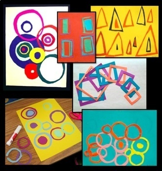 Abstract Shape Collage
