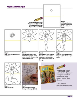 Art Lesson - Yayoi Kusama Still Life Flower (step-by-step art lesson)
