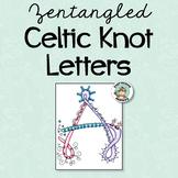 Zentangled Celtic Knot Letters