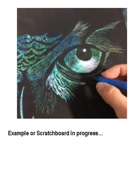Art Lesson and Instructions: Crayon Etching/ Scratchboard