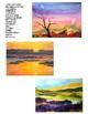 """Art Lesson, Self Assessment: Watercolor """"Workshop"""" & Landscape Painting Project"""