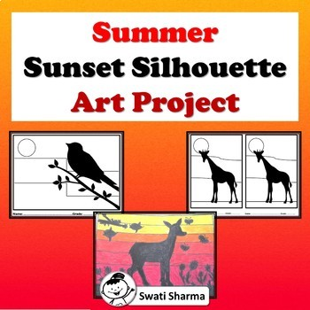 Art Lesson and Worksheets Silhouette Sunsets