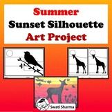 Summer Art Project Sunset Silhouettes, Fall Art Activities