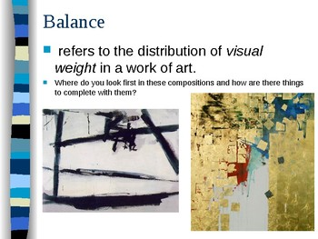 Art Lesson based on Line, Shape, Space, & Balance (2 different projects)