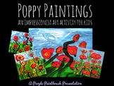 Art Lesson for Kids: Impressionist Poppy Paintings