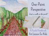"Art Lesson for Kids: One-Point Perspective, ""Just a Walk in the Park!"""
