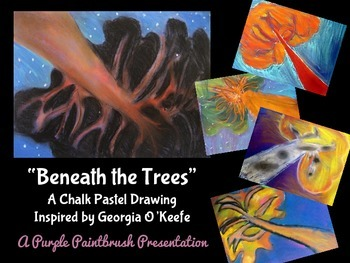 Art Lesson for Kids: Pastel Tree Drawing Inspired by Georg